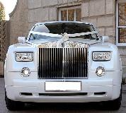 Rolls Royce Phantom - White hire  in Wales